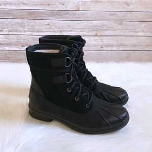 UGG Black Azaria Waterproof Duck Boots